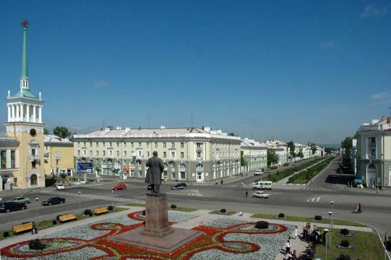 Смотреть красивое фото Площадь в городе Братск