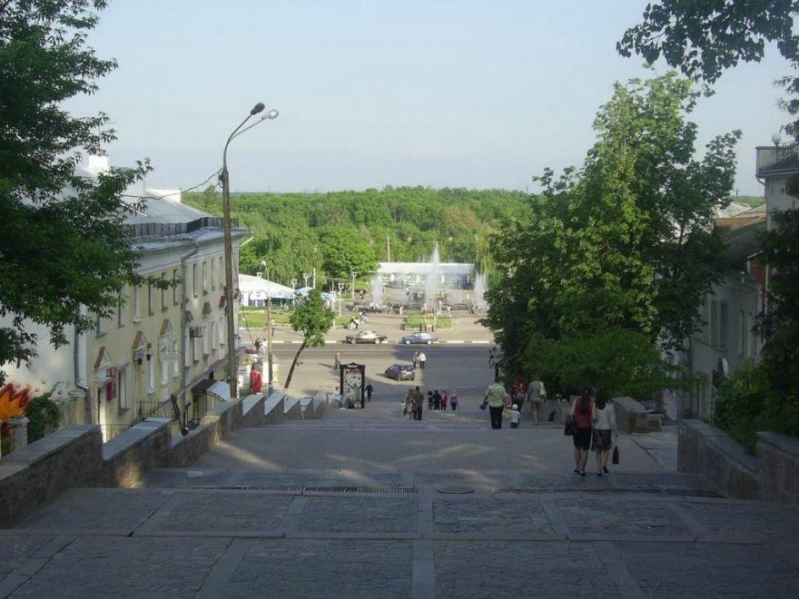 Бульвар Гагарина вид на Набережную город Брянск