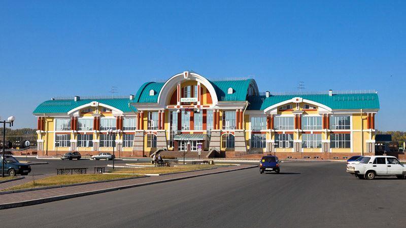 Железнодорожный вокзал город Бийск 2019