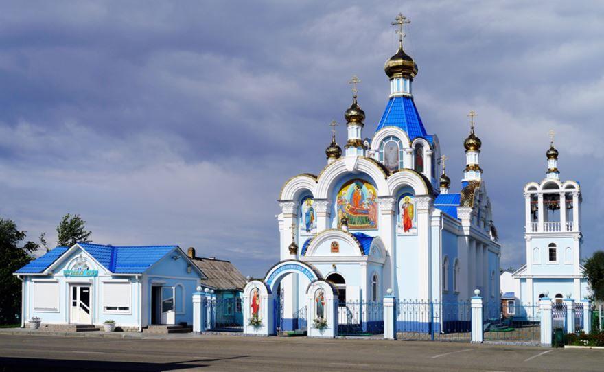 Свято-Успенский храм в городе Белореченск