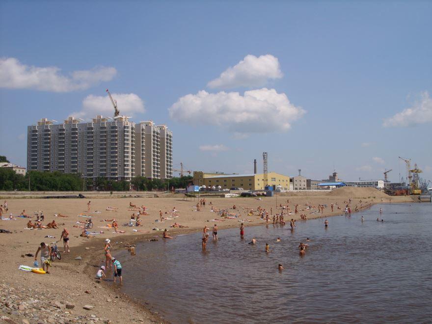 Пляж города Благовещенск