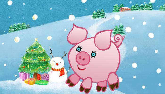 Картинки надписями, нарисовать новогоднюю открытку своими руками со свиньей