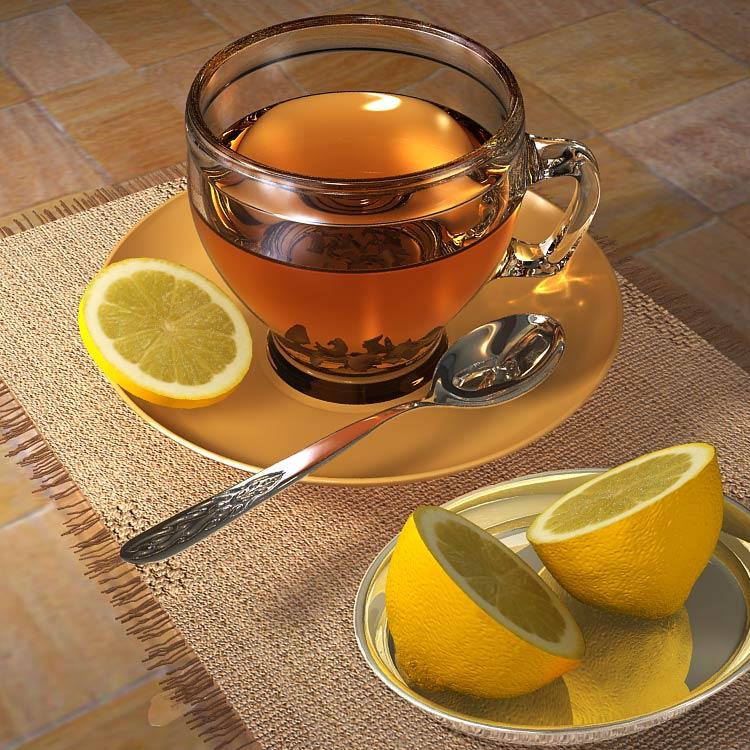 Чай с лимоном - полезный рецепт на зиму