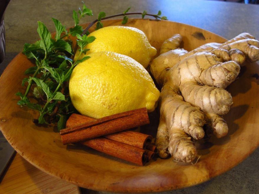 Фото лимона с имбирем и корицей