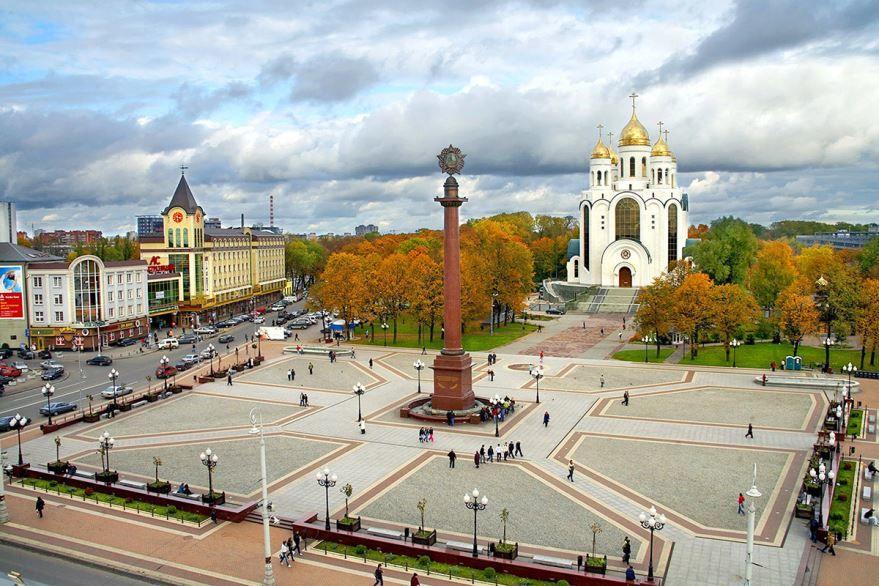 Смотреть красивый вид города Калининград бесплатно
