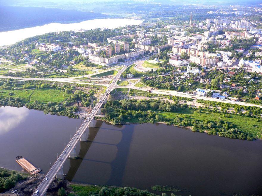 Смотреть лучшее фото города Калуга вид сверху в хорошем качестве
