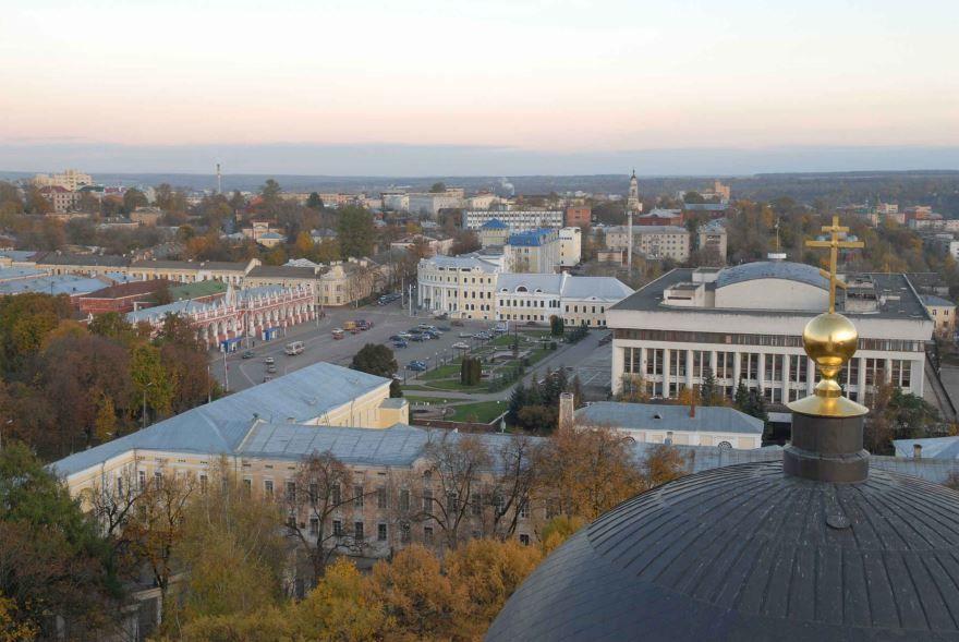 Смотреть красивое фото вид на город Калугу в хорошем качестве