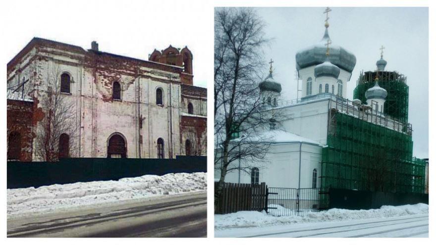 Смотреть старинное фото Благовещенский собор город Кемь