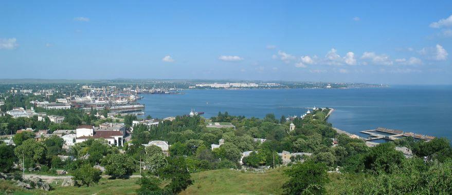 Смотреть красивое фото панорама города Керчь в хорошем качестве