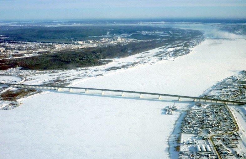 Скачать онлайн бесплатно лучшее фото Красавинский мост город Кизел