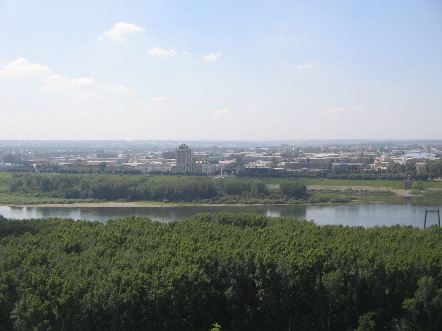 Смотреть красивое фото вид из Соснового Бора на город Кемерово