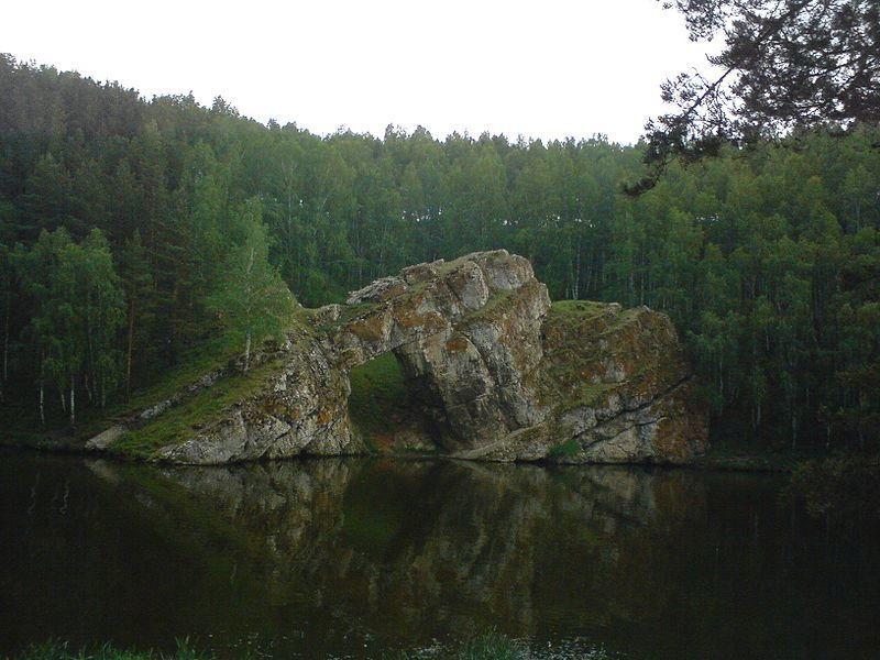 Каменные ворота на реке Исеть город Каменск уральский