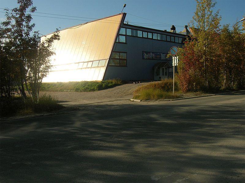 Здание клуба Пирамида в городе Ковдор