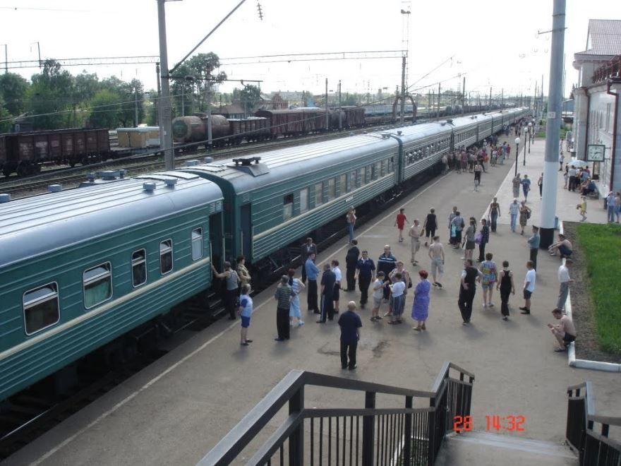 Железнодорожный вокзал город Канаш