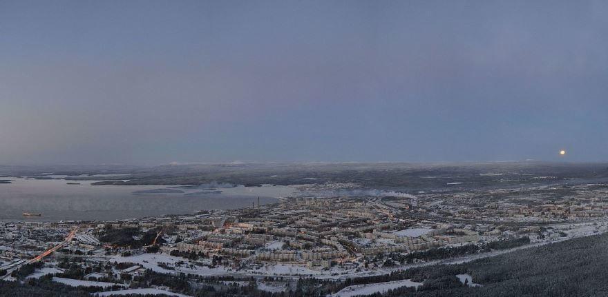 Смотреть лучшее фото города Кандалакша панорама города