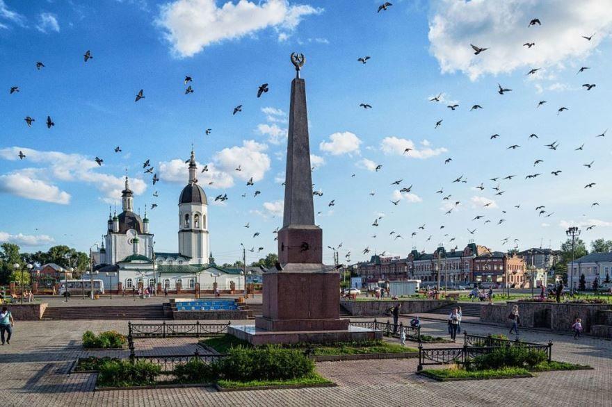 Площадь Коростелева город Канск