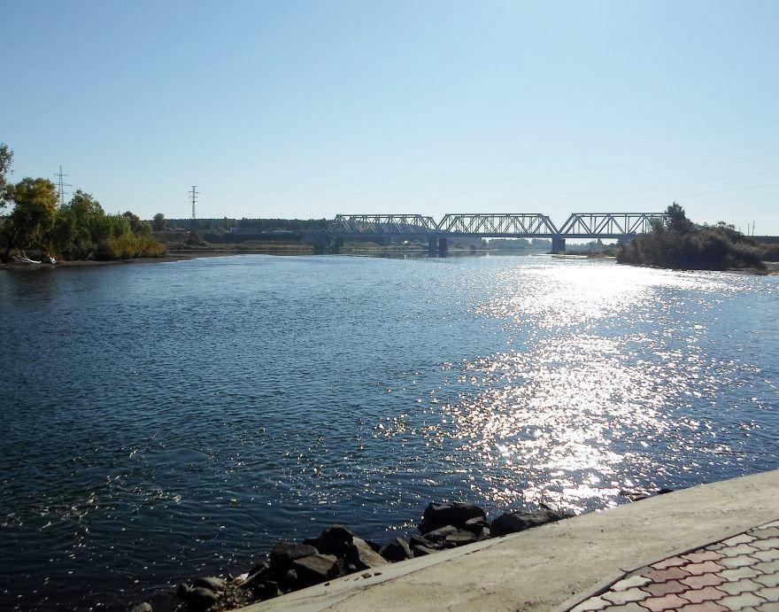 Железнодорожный мост город Канск 2019