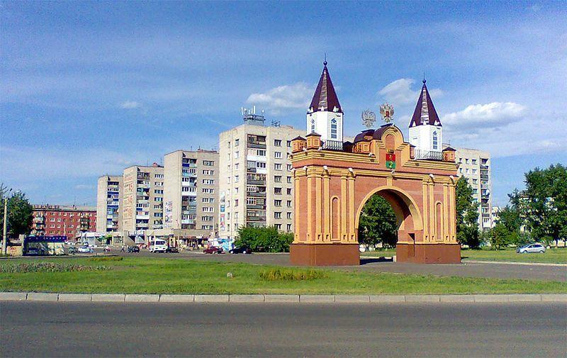 Смотреть красивое фото предмостная площадь и арка город Канск