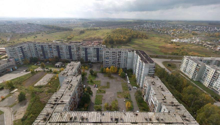 Смотреть красивое фото вид сверху город Киселевск 2019