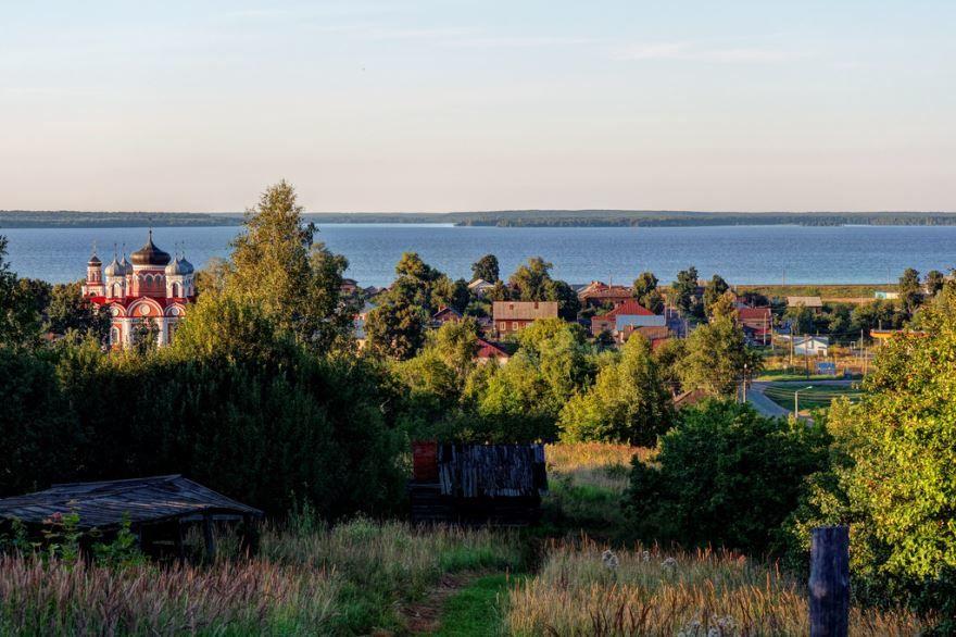 Скачать онлайн бесплатно фото красивой панорамы города Космодемьянск в хорошем качестве
