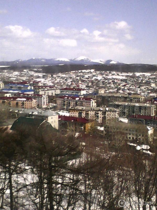 Смотреть лучшее фото города Корсаков 2019 вид города сверху