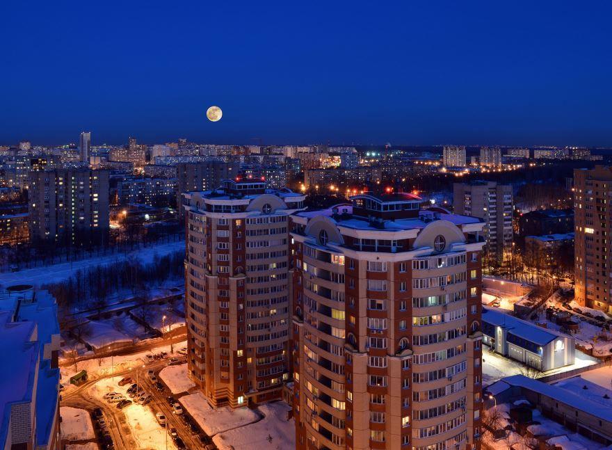 Смотреть красивое фото города Королев Центральная часть города в хорошем качестве