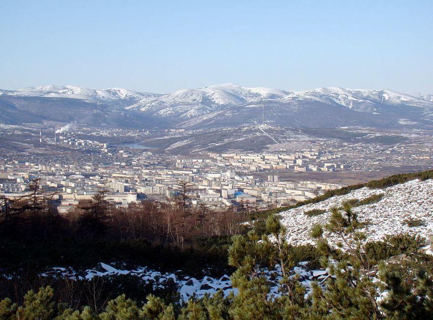 Смотреть красивое фото панорама города Магадан в хорошем качестве