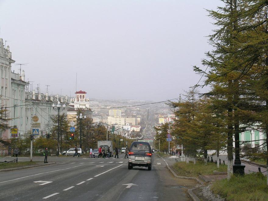 Смотреть красивое фото улица города Магадан в хорошем качестве