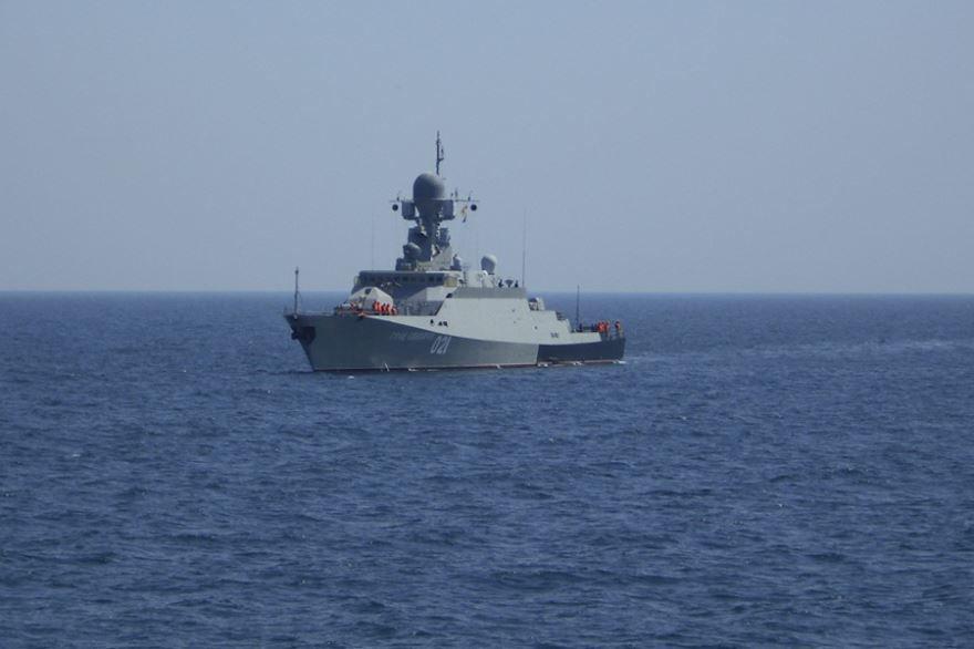 Выход кораблей в открытое море