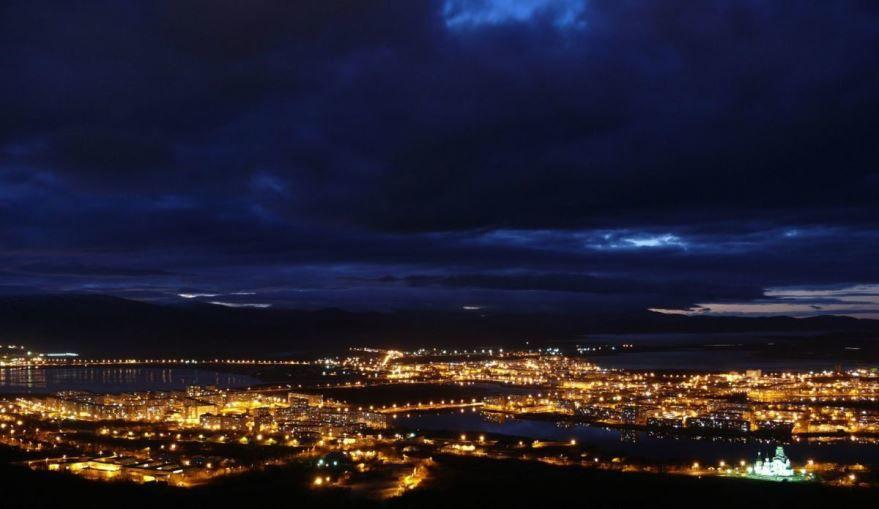Смотреть лучшее ночное фото город Мончегорск в хорошем качестве