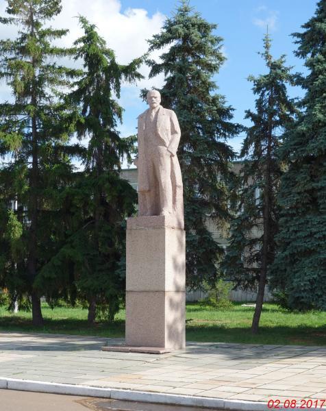Памятник В.И. Ленину город Мелеуз