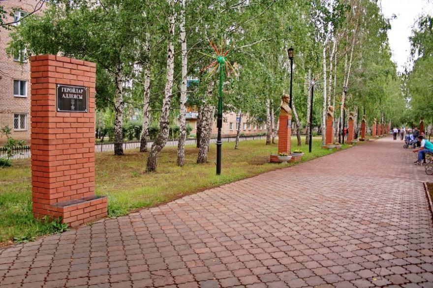 Смотреть лучшее фото города Менделевск Алея Героев