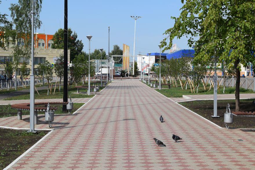 Смотреть красивое фото Аллея Героев в городе Менделеевск в хорошем качестве