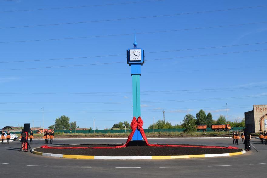 Развязка с часами город Менделеевск