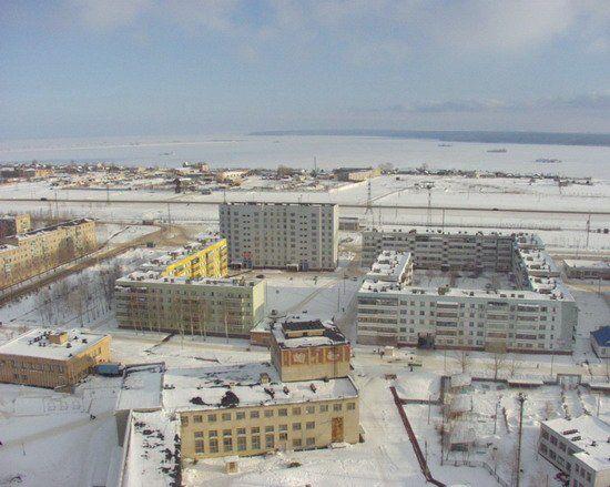 Смотреть красивое фото вид города Менделеевск сверху в хорошем качестве