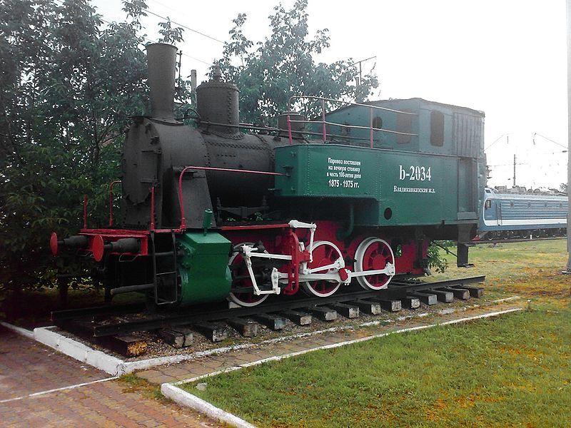 Памятник Паровоз на станции Минеральные Воды