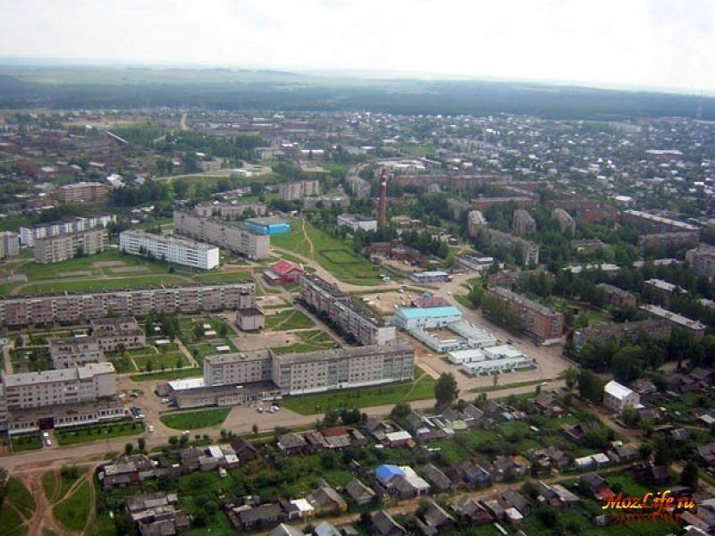 Смотреть лучшее фото вид сверху город Можга