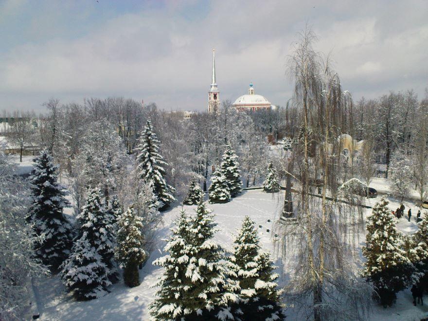 Смотреть красивое фото зимний вид города Мичуринска