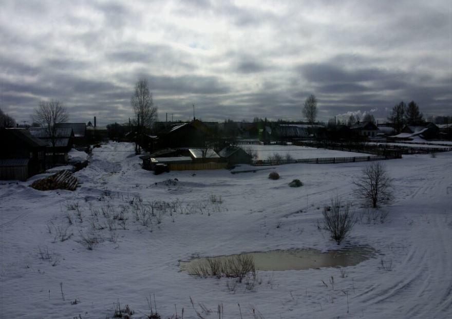 Окраина города Котельнич ранней весной
