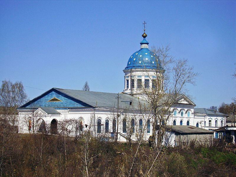 Вид на Церковь Николая Чудотворца со Старого Городища город Котельнич