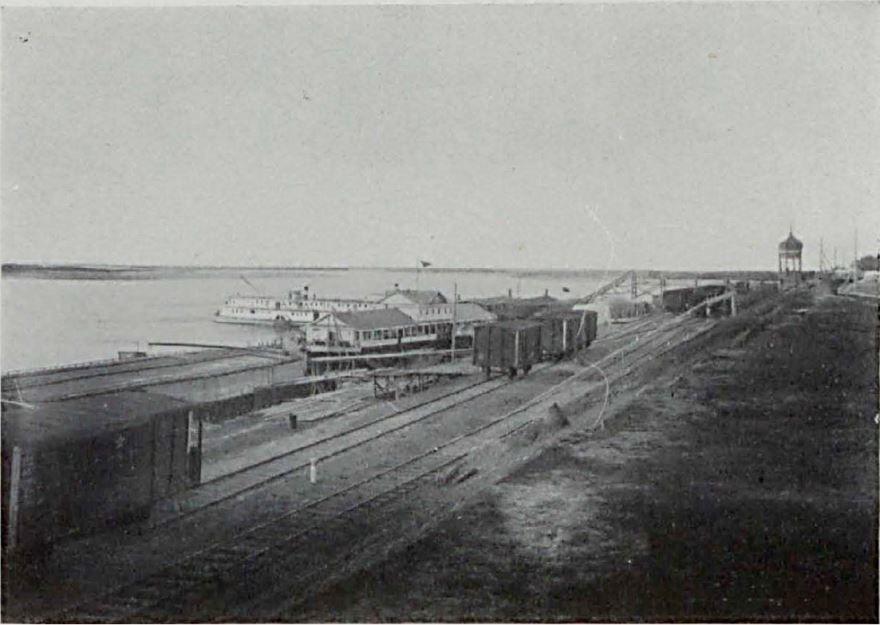 Смотреть лучшее старинное фото Пристань города Котлас в хорошем качестве