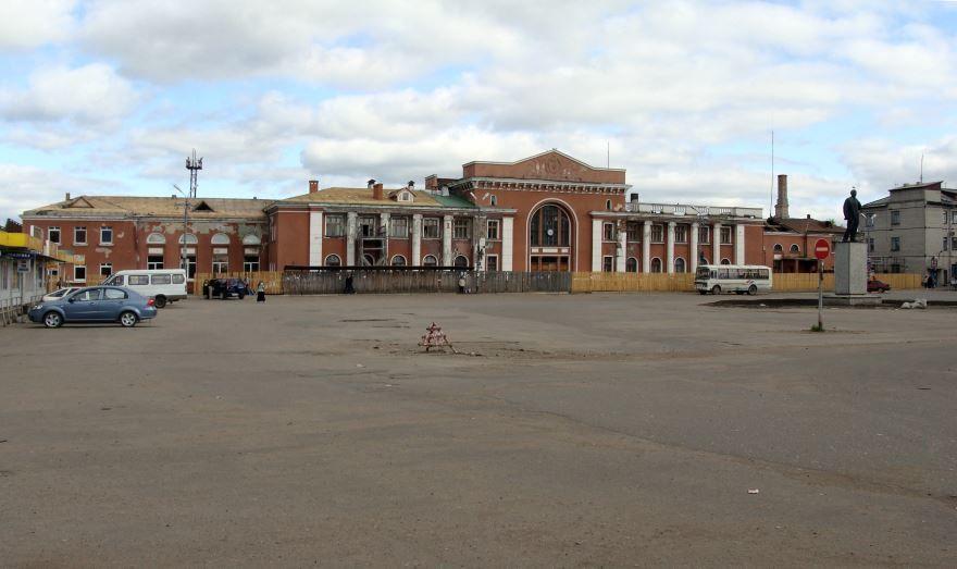 Железнодорожный вокзал город Котлас