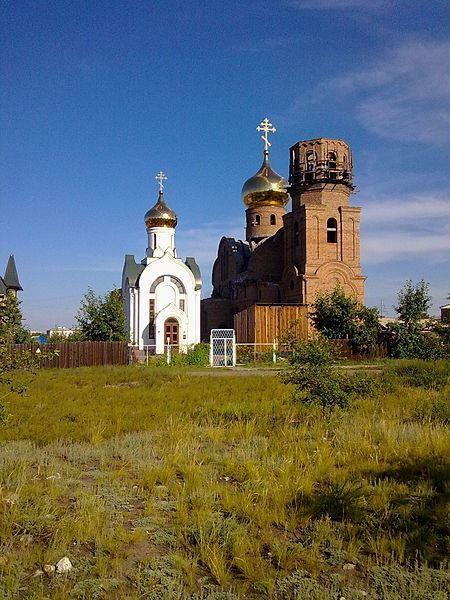 Православный храм город Кызыл