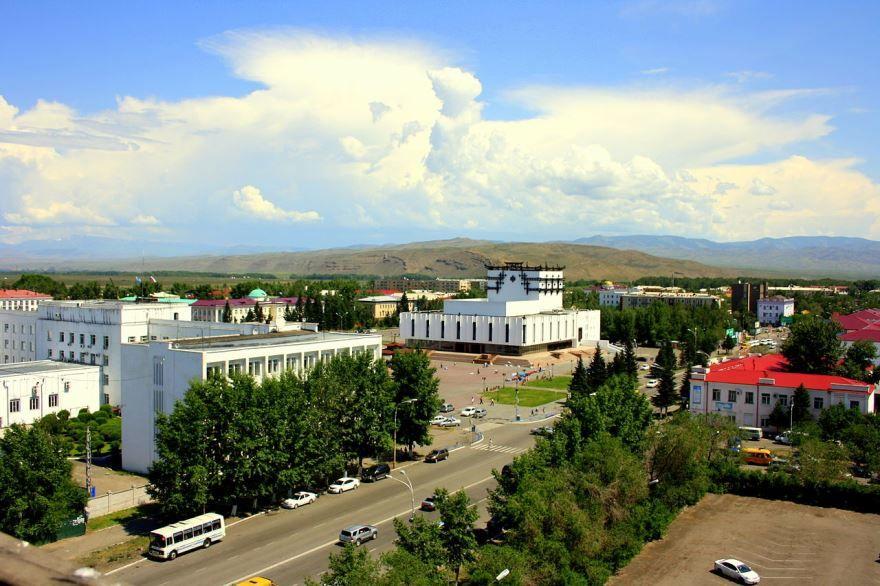 Смотреть лучшее фото красивый вид города Кызыл в хорошем качестве