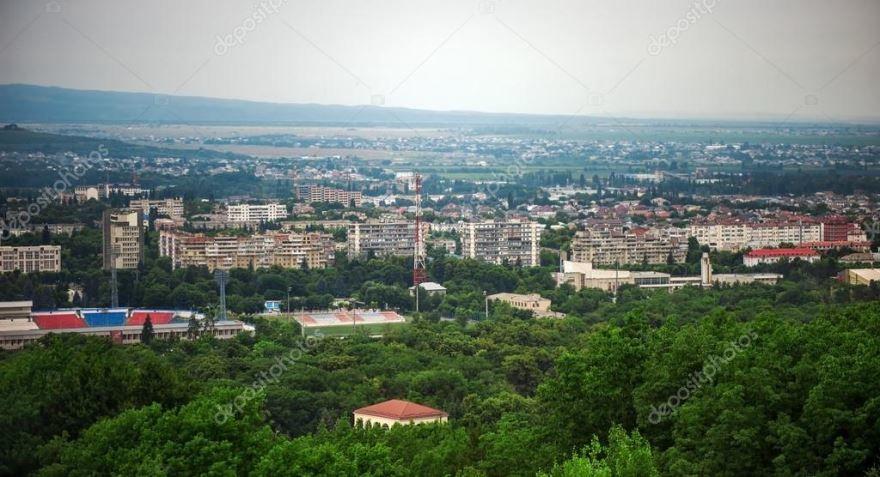 Смотреть красивый вид сверху город Кызыл 2019