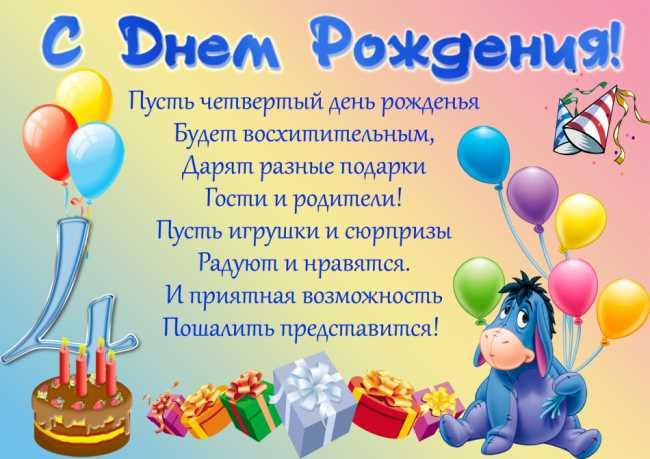 Днем рождения! Поздравление для мальчика! Стихотворение