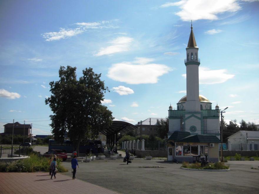 Мечеть и автостанция город Кыштым