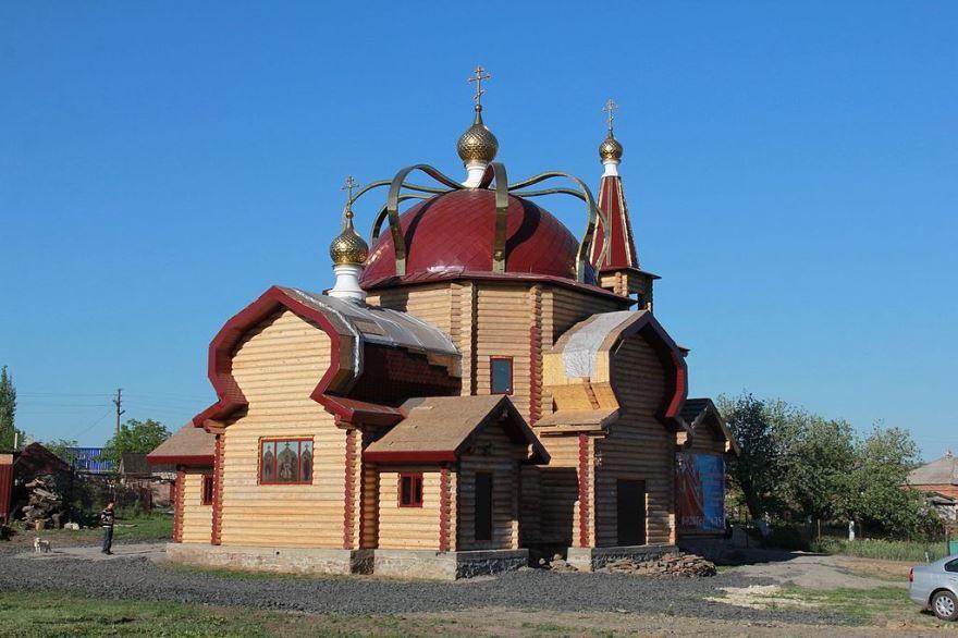Смотреть красивое фото Екатерининский храм город Красный Сулин