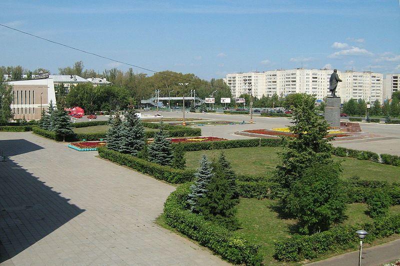 Площадь Ленина город Кстово