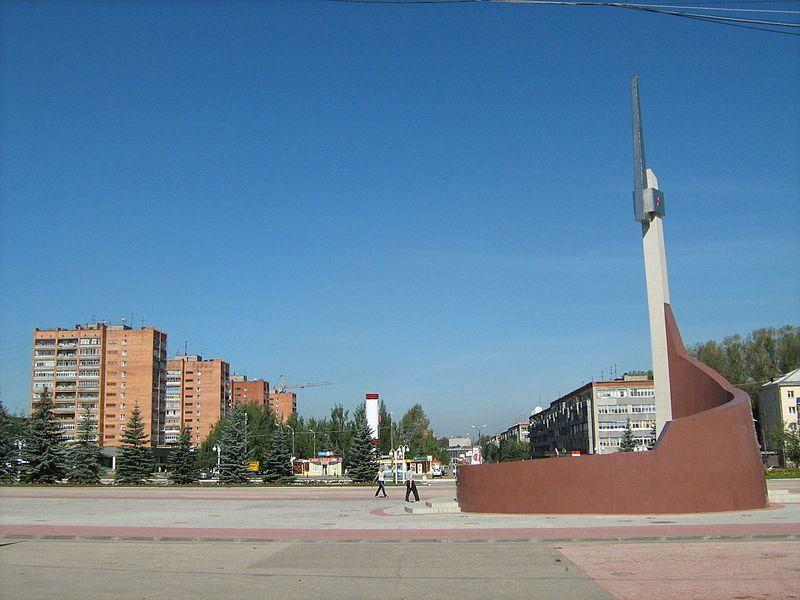 Площадь мира и бульвар мира город Кстово